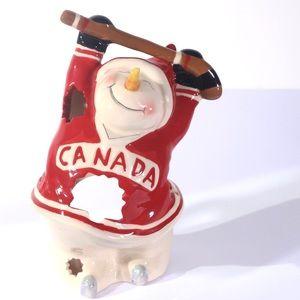 Other - Hockey Snowman t-lite holder-Heather Goldminc
